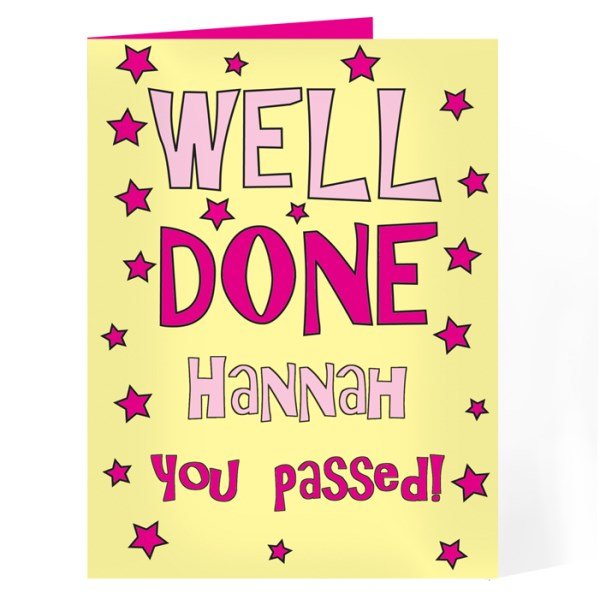 Well Done Yellow & Pink Card