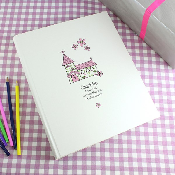 Whimsical Church Pink Traditional Album