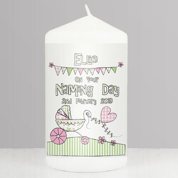 Whimsical Pram Candle