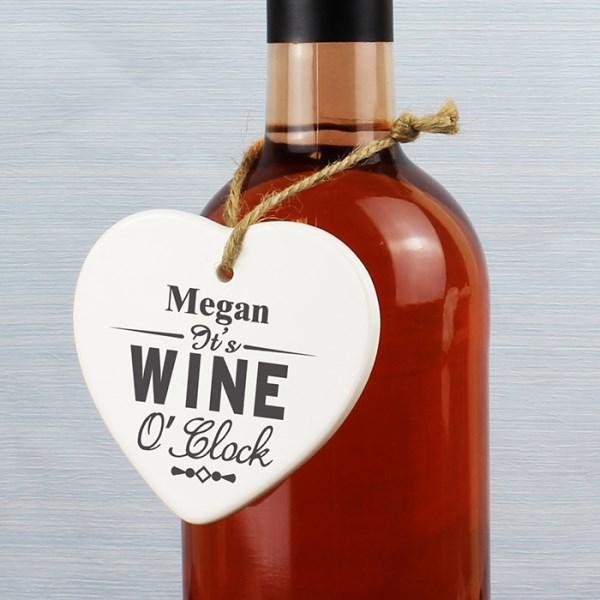 Wine O Clock Ceramic Heart
