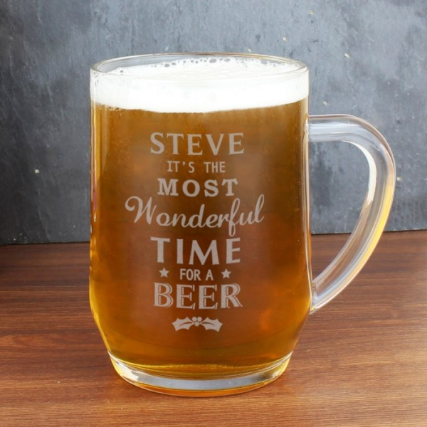 Wonderful Time For A Beer... Glass Tankard