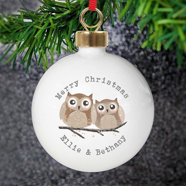 Woodland Owl Bauble