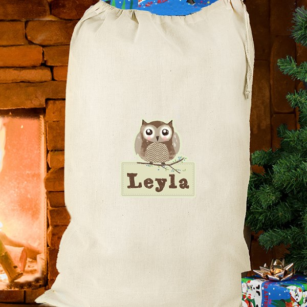 Woodland Owl Cotton Sack