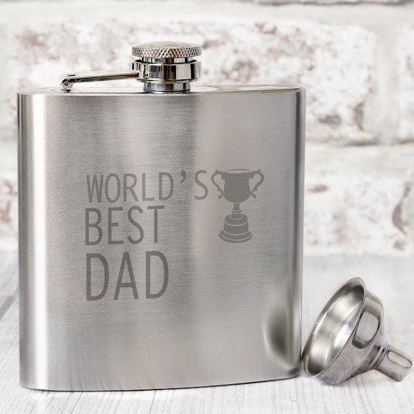 World's Best Dad Hip Flask