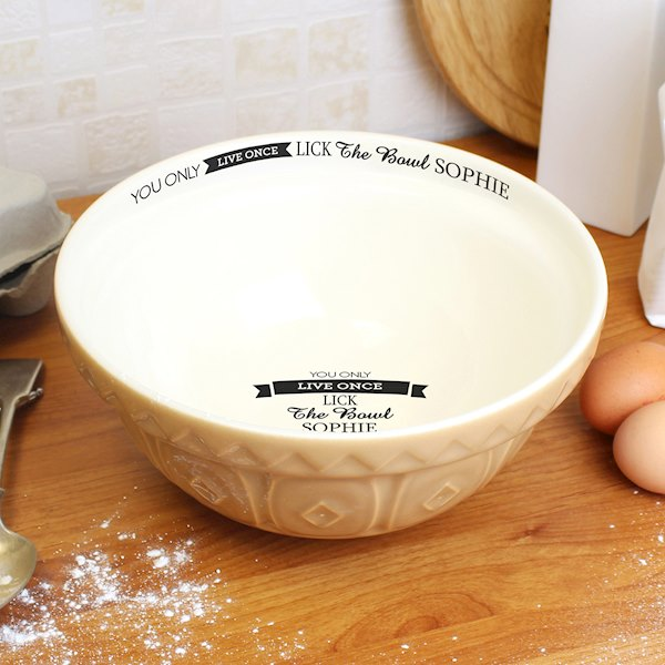 You Only Live Once... Mixing Bowl