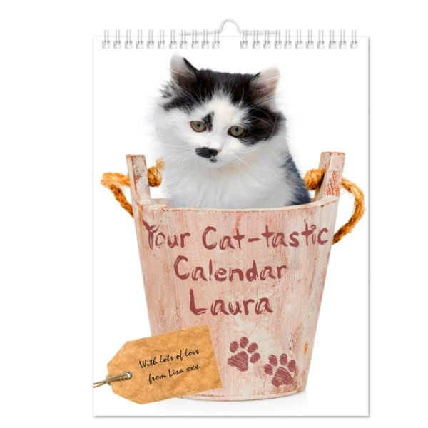 Your Cat-tastic A4 Wall Calendar