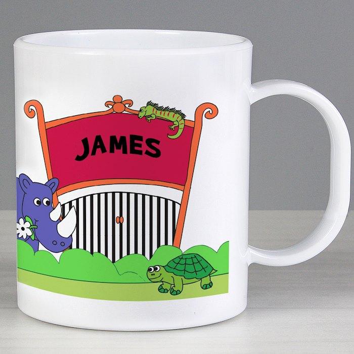 Personalised Zoo Plastic Mug